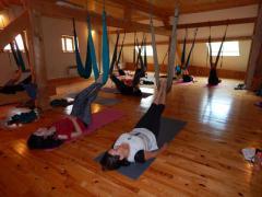 Yoga Aérien en montagne, Drôme, octobre 2019